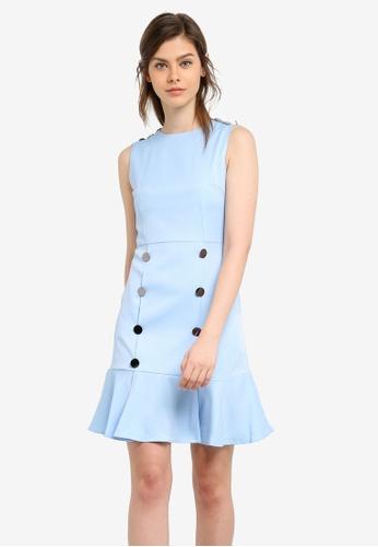 Megane blue Pernilla Dress ME617AA0S0V1MY_1
