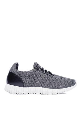 Life8 grey Lightweight Check Cooling Sport Shoes LI283SH06GKRSG_1