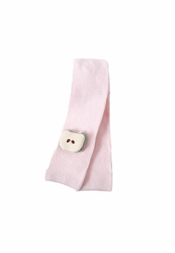Little Kooma pink Baby Kid Girls Fruit Leggings Apple Pink DCC32KABE6AE6FGS_1