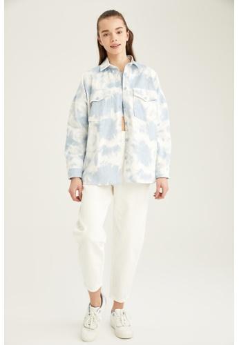 DeFacto blue Long Sleeve Cotton Shirt 535CCAAB32FD03GS_1