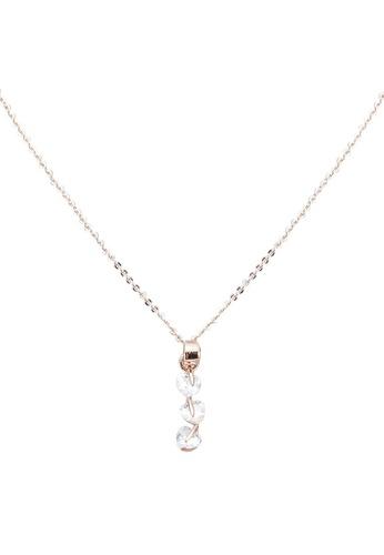 Red's Revenge gold Diamante Drops Charm Pendant Necklace 76AE5ACF00D83CGS_1
