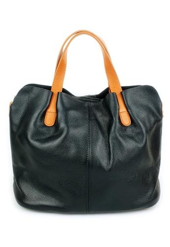BELLE LIZ black Classy Elegant Ladies Leather Handbag Black AFDABAC6A6500DGS_1