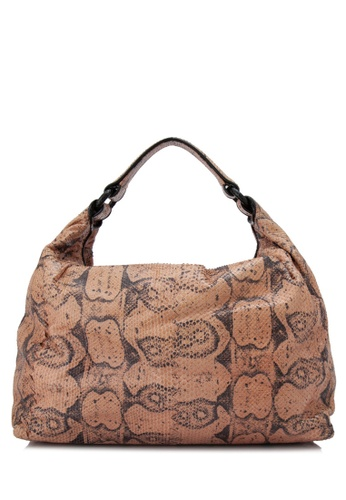 Bottega Veneta orange Pre-Owned Bottega Venete Snakeskin Hobo Bag 6CB1DACA4ED046GS_1