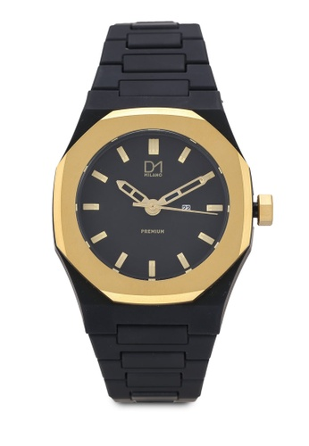 D1 Milano black Premium Watch Black With Gold Bezel 833E2AC0B8C83CGS_1