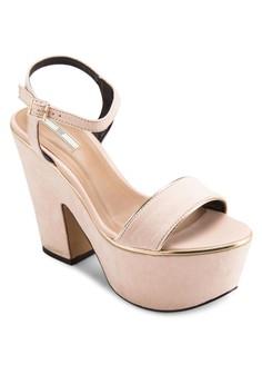時尚厚底粗跟鞋