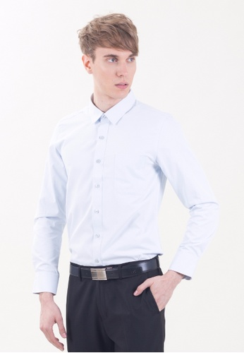 Drum Men Formal Shirt - BLU DR425AA15TJKMY_1