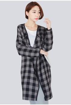 Cozy Wool Plaid Coat