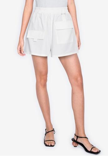 ZALORA BASICS white Cargo Shorts F8E81AA0EAA096GS_1