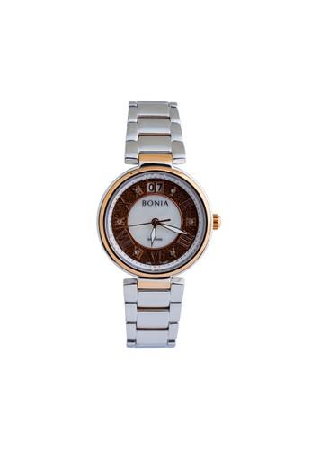 BONIA silver and brown Bonia Premium - BP10367-2643 - Jam Tangan Wanita 0397BAC154F941GS_1