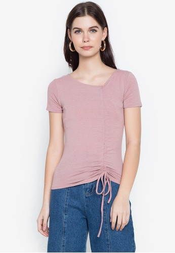 Spring Fling pink Ruched Top DF5DFAA3EBAC38GS_1