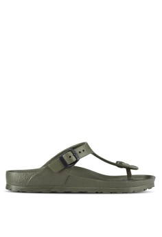 3c3ccfd8450390 Birkenstock green Gizeh EVA Sandals BI090SH98JPHMY 1