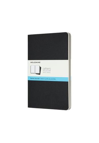 Moleskine black Cahier Journals Dotted Cardboard Black Large 61916HL2EB9968GS_1