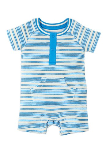 MARKS & SPENCER blue Cotton Rich Striped Towelling Romper FB544KAA065D7CGS_1