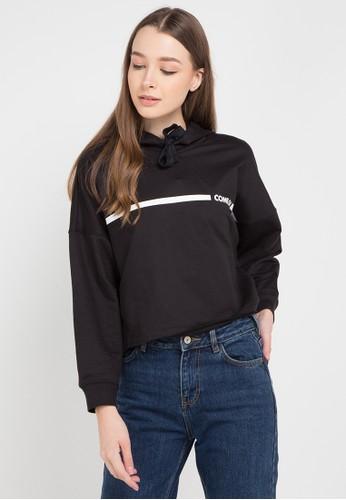 Ninety Degrees black and multi Beatrix Sweater Hoodie 62BA9AA1DC0B62GS_1