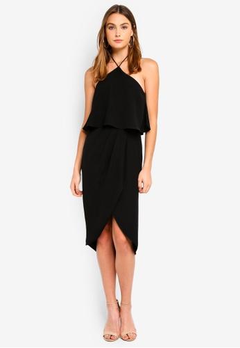Preen & Proper black Halter Neck Midi Dress A1921AA6CDAF84GS_1