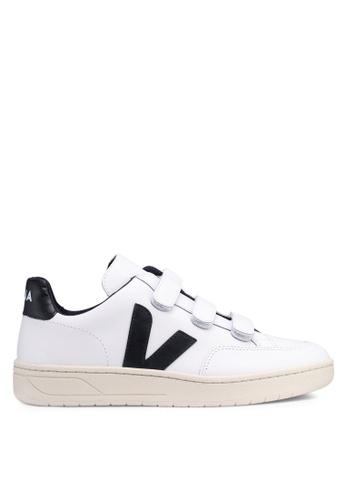 Veja 白色 V-12 Velcro Leather Sneakers E0D56SHC3B16CFGS_1