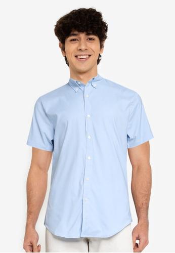 Abercrombie & Fitch blue Performance Shirt 2F650AA501F3B7GS_1