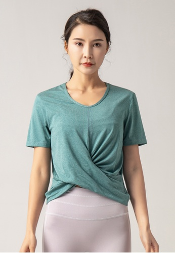 HAPPY FRIDAYS Women's Yoga Short Sleeve Tees DK-TX14 57F09AA8D45E63GS_1