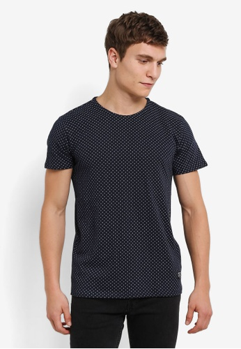!Solid blue Karrson Printed T-Shirt SO701AA0S2VCMY_1