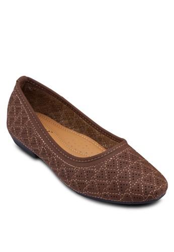 心形雕花娃娃鞋, 女鞋, 芭蕾esprit 台北平底鞋