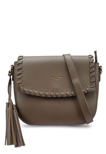 Unisa brown Weave Fashion Sling Bag F259BAC6FDA62FGS_1