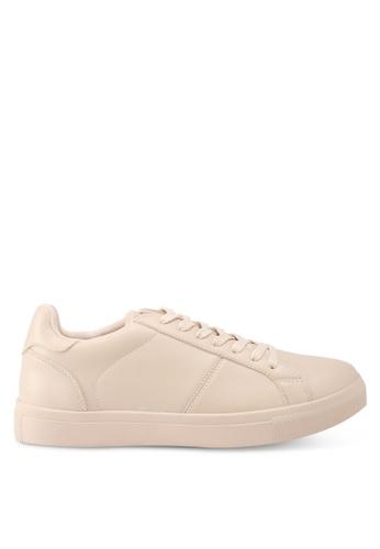 ZALORA beige Classic Lace Up Sneakers 6EC8ASH1D3D3C2GS_1