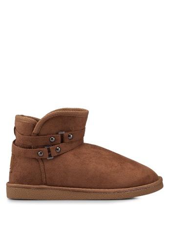 Carlton London 褐色 經典必備雪靴 36C1ESHE0EB63EGS_1