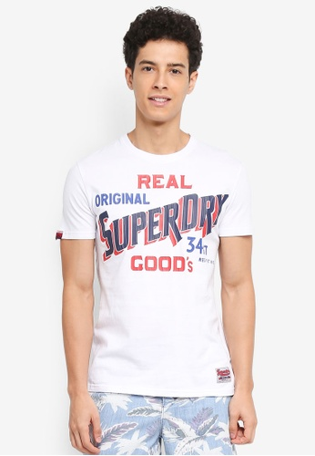 Superdry white 34st Goods Tee 45F3EAA76A6F80GS_1
