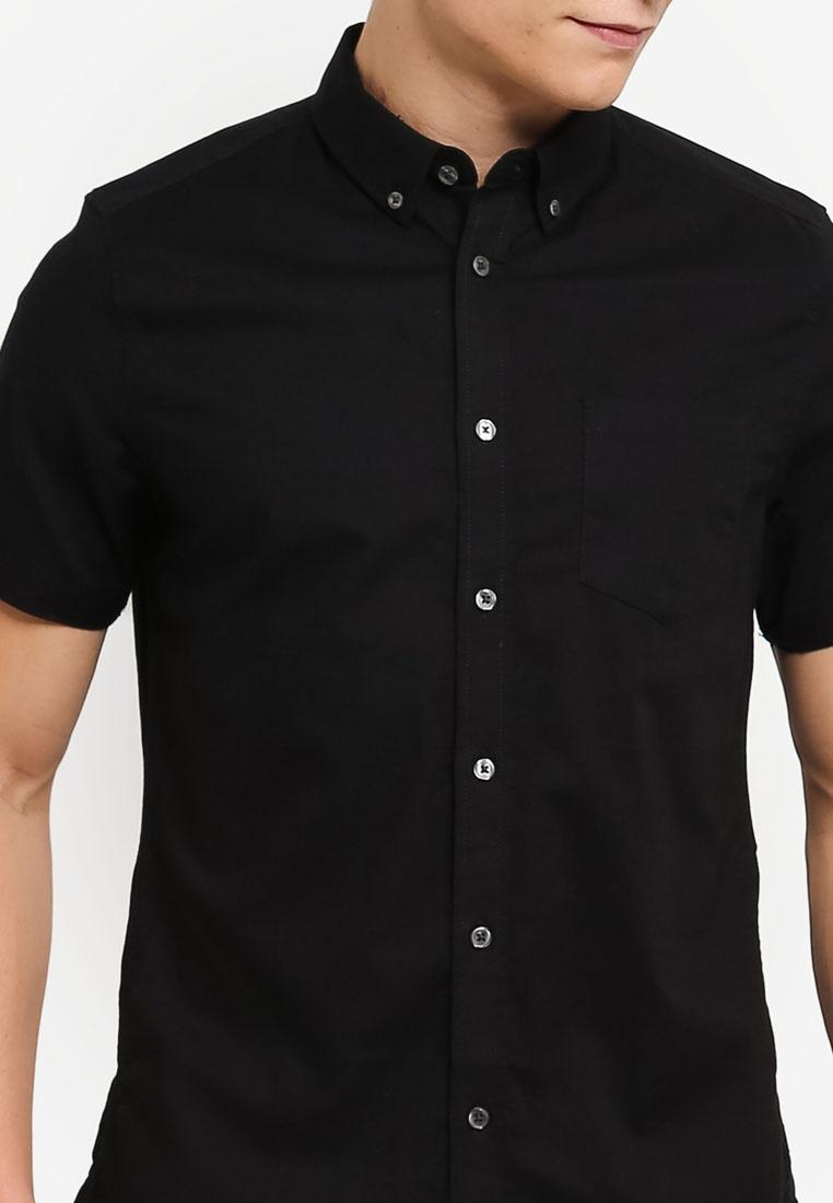 Oxford Shirt London Menswear Short Black Burton Sleeve RSnwa8