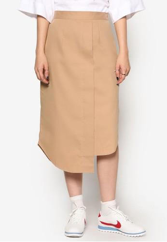 韓風不對稱裹飾短裙, 服飾, esprit hk清新俏皮
