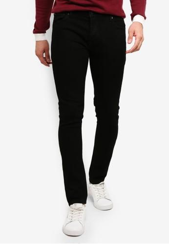 !Solid black Joy Stretch Slim Fit Jeans 33847AA461DD70GS_1