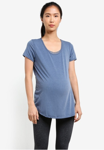 Cotton On Body blue Maternity Gym T Shirt CO561AA0S3DQMY_1