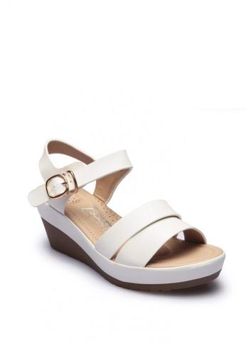 7soles white Kenzie Ladies Wedge Shoes B4C78SHA678A90GS_1