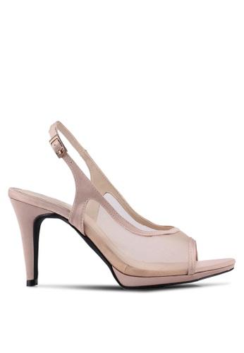 Bata 粉紅色 透飾繞踝魚口高跟鞋 A12D1SH57535E6GS_1