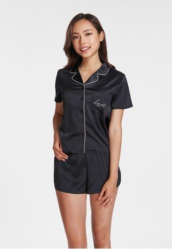 6IXTY8IGHT black MACIE, Satin Pajama Set HW08609 54827AA4057450GS_1