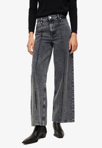 Mango grey Sewing Culotte Jeans 47327AAC681976GS_1
