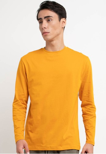 Giordano yellow Men's Long Sleeve Tee D255FAA8428181GS_1