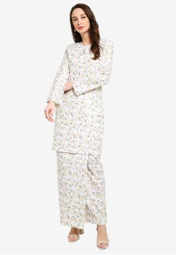 Butik Sireh Pinang white Baju Kurung Moden Yasmin A6358AAB2E5542GS_1