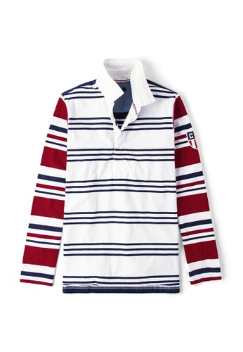2a0a793ebfa Buy CHAPS Chaps Striped Rugby Shirt Online | ZALORA Malaysia