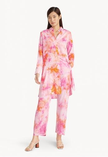 Pomelo pink Tie Dye Long Shirt - Pink 73656AA67B6080GS_1