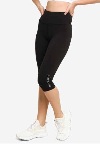 Lorna Jane black Lotus 3/4 Leggings 131CAAA67A4602GS_1