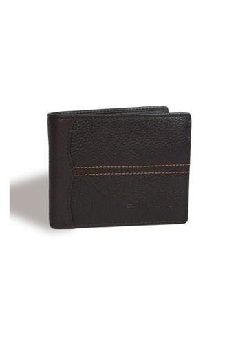 EXTREME brown Extreme Genuine Leather Short Wallet Bifold Multi Slot Dark Brown DE54BAC8CB8151GS_1