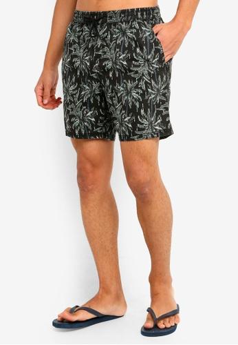Cotton On 黑色 抽繩沙灘短褲 E9FE1AA42F8EAEGS_1