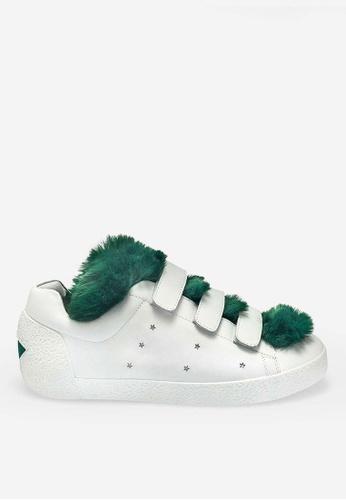 ASH white Nitro Fur - White Fur Low-Top Sneakers 8BE59SHD650A0BGS_1