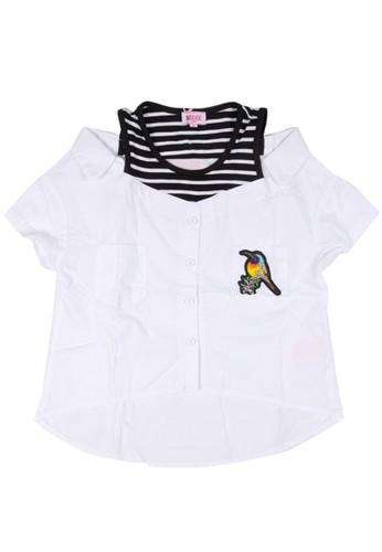 Moejoe white MOEJOE Bird Shirt Variasi - White FC810KAA612F7EGS_1