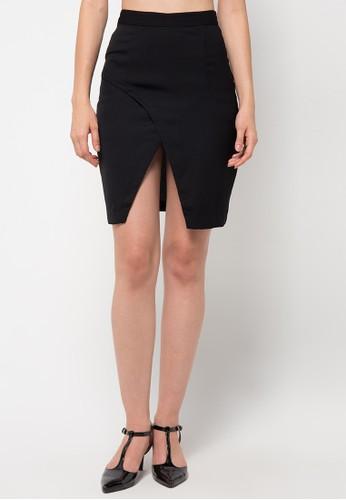 (X) S.M.L black Cedra Prio Skirt XS330AA51BTGID_1