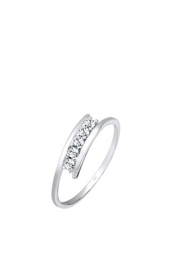 5ecf1dbbe5818 Elli Germany 925 Sterling Silver Swarovski Crystals Ring