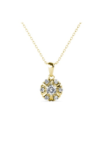 Her Jewellery gold Sun Petal Pendant (Yellow Gold) -  Made with premium grade crystals from Austria 28258AC071A436GS_1