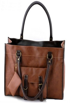 LA-351503#Shoulder Fashion Bag-Light tan