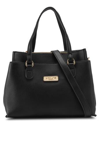 Unisa black Faux Leather Multi-Compartment Top Handle Bag UN821AC0SIMFMY_1